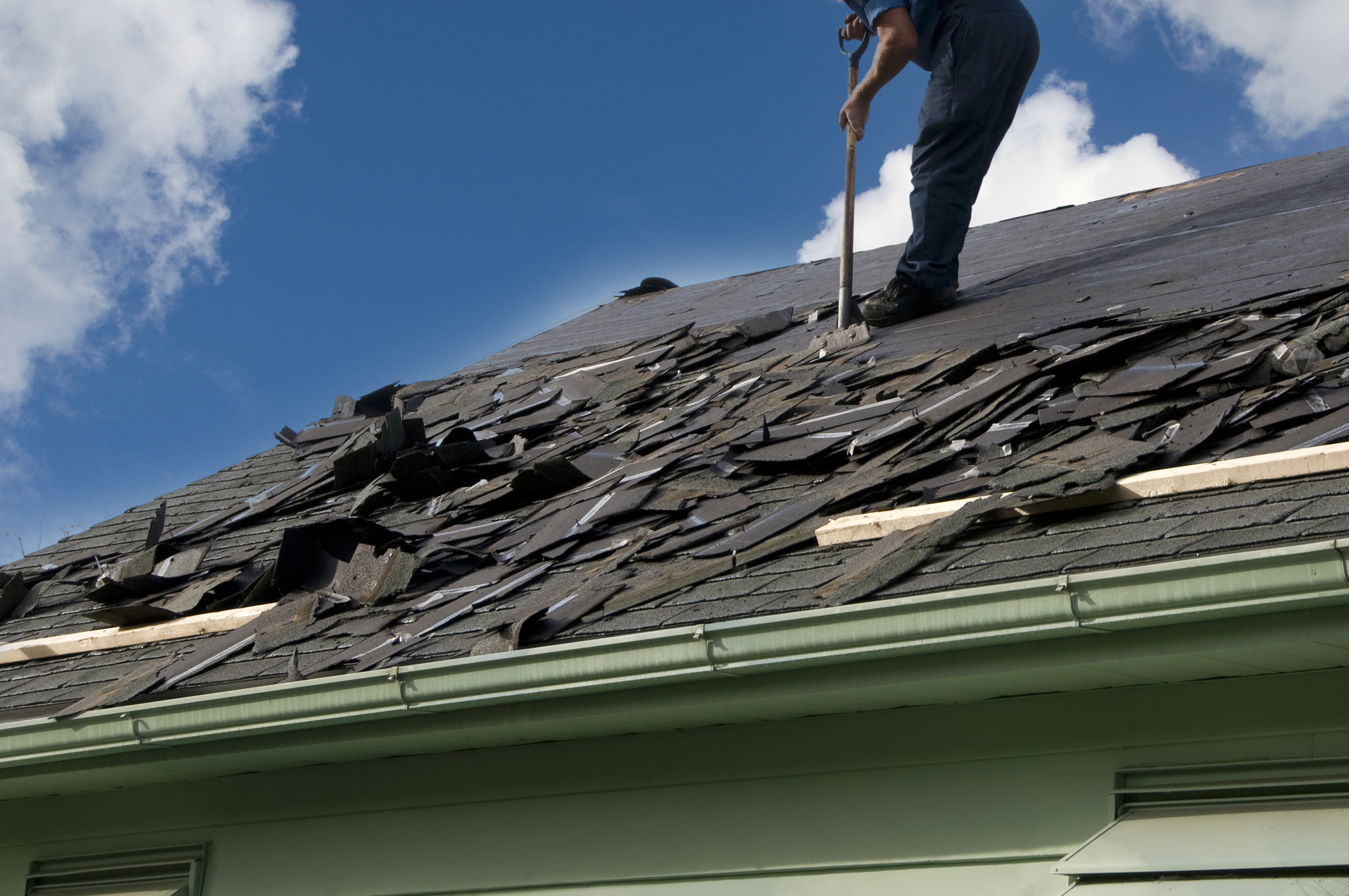 Roof repair from hail damage